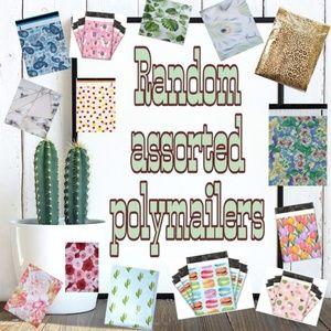 50 6x9 Random assorted designer polymailers